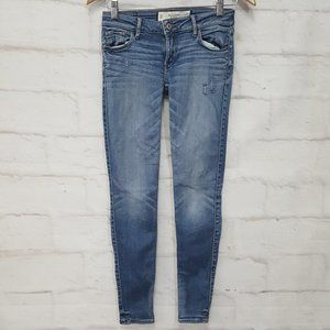 Abercrombie & Fitch Slightly Distressed Jeans Sz 0